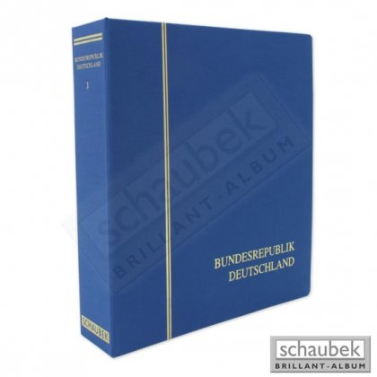 screw post binder cloth with embossing Bundesrepublik...