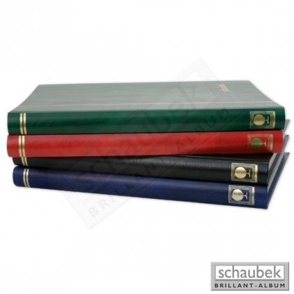 stock book, 32 black pages, 230 mm x 310 mm