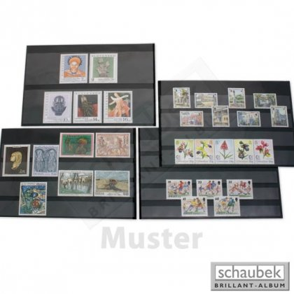 stock cards with protector sheet, 3 film stripes 156 mm x...