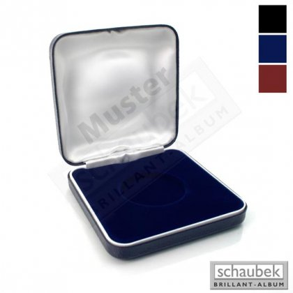 metal coin case, 75 mm x 75 mm inlay with various diameters