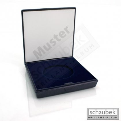 plastic coin case Omega, blue, 80 mm x 80 mm crushable...