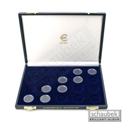 2 Euro Münzenkassette Für Münzenserie 10 Jahre Wwu 20 Felder Auf 1