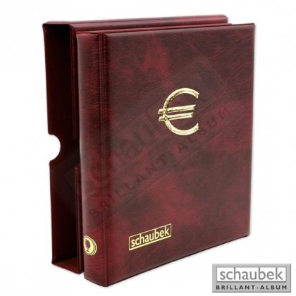 Euro cirulation coin album incl. slipcase and 5 sheets to...