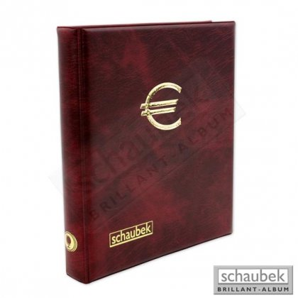 Euro circulation coin album incl. 5 sheets to hold 15...