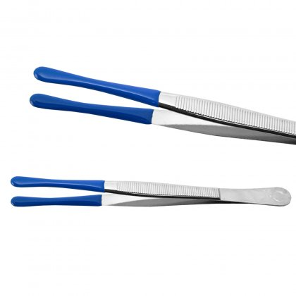 Schaubek coin tweezers with coated ends - 120 mm