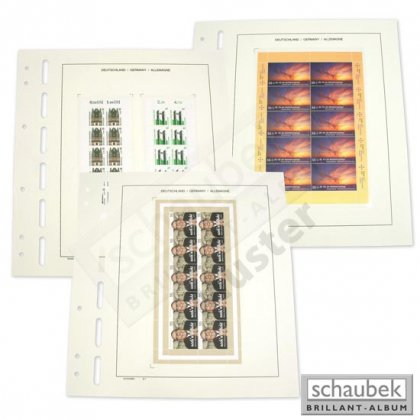 German sheets of ten - 1 foil 122 mm x 172 mm pack of 5...