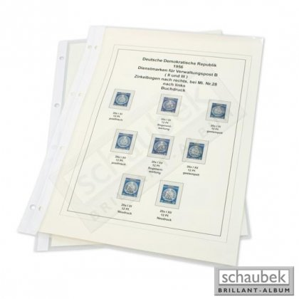 protector sheets for A4-CAD sheets 10 sheets per pack