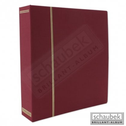 cloth screw post binder red