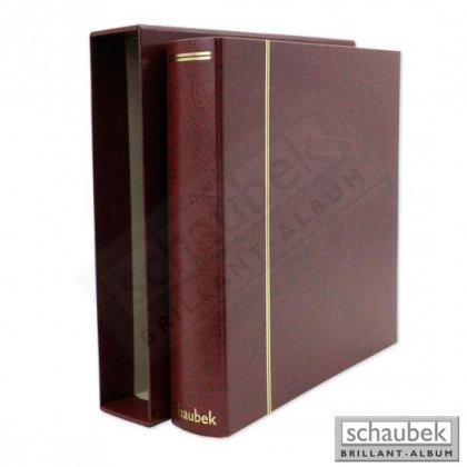 set Diplomat ring binder and slipcase leatherette red