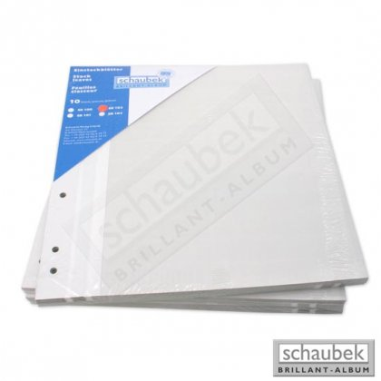 stock sheets Donau, undivided, white 10 sheets