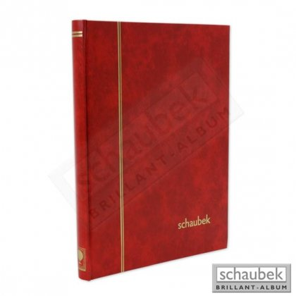 stock book, 32 white pages, cover 230 mm x 310 mm red