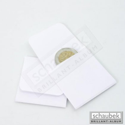 Coin pockets made from white offset paper