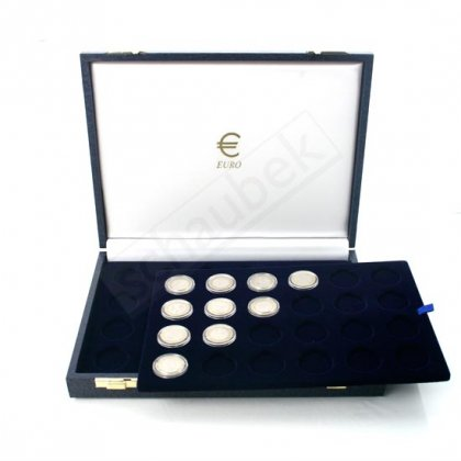 1-Euro coin cassette for 72 coins in capsules - 72 spaces on 3 trays