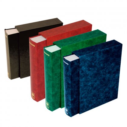 stock book with slipcase, 64 white pages, 230 mm x 310 mm,