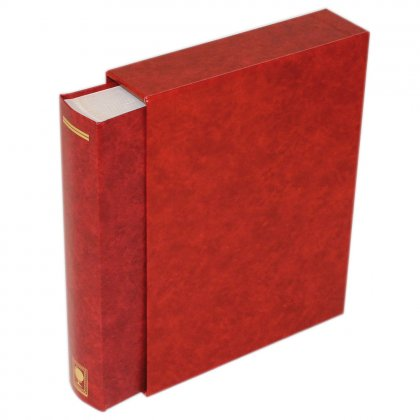stock book with slipcase, 64 white pages, 230 mm x 310...