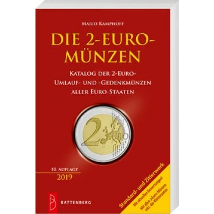 Kamphoff, The 2 Euro coins, 9th edition 2018