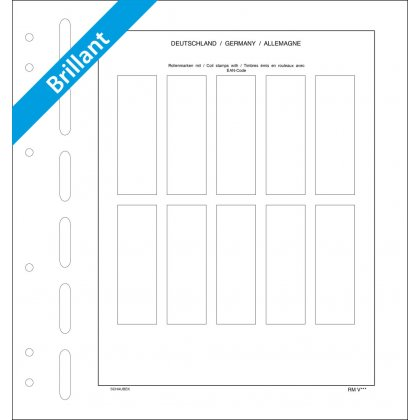 Sheet for coil stamps Germany (gummed) 10 spaces, each...