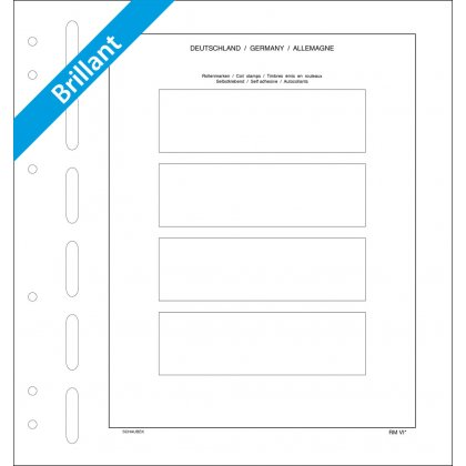 Sheet for coil stamps Germany (gummed) 4 stripes, each 130 mm x 39,5 mm
