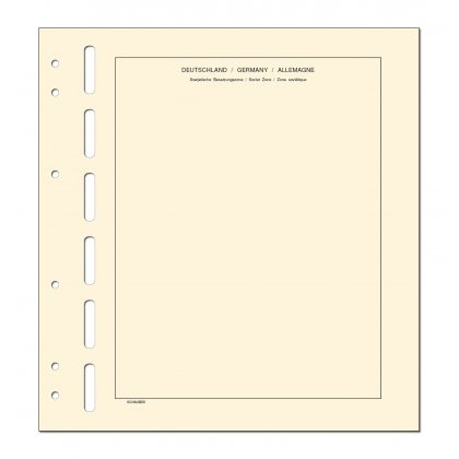 headed country sheets - 10 sheets Sowjetische Zone, OPD...