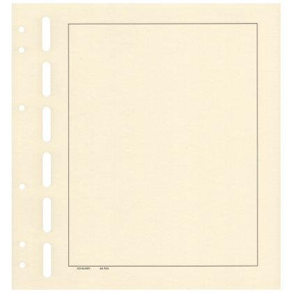blank sheets, yellowish-white with border 50 sheets per pack