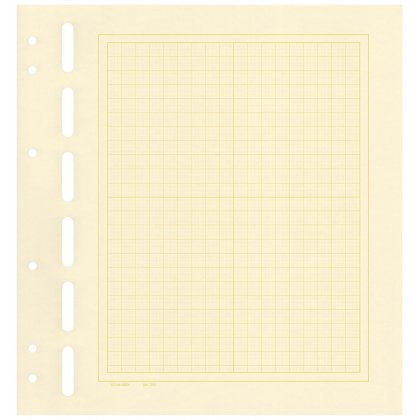 Schaubek bb700 blank sheets, yellowish-white, with...