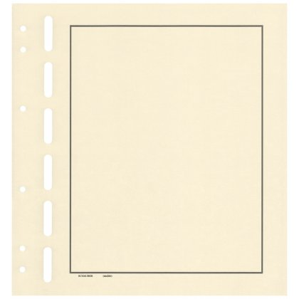 Blank sheets with 3-frames border